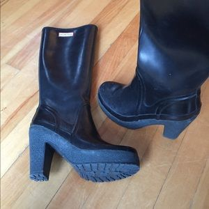 Hunter original high heal rain boot